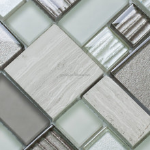 DIFFERENT SIZE DESIGN CRYSTAL AND STONE MOSAIC MIXTURE