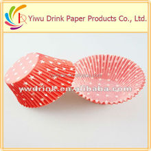 red stars christmas cake cup disposable baking cake cup