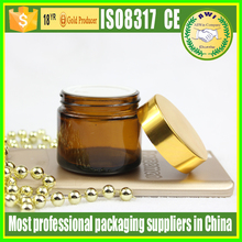 30g amber Glass Jar cosmetic eye cream bottle with cap