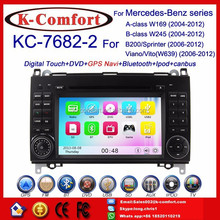 K-Comfort Free shipping car dvd navigation for Benz B200 A class W169,Car radio gps for mercedes vito car dvd player