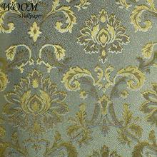 Hermoso del damasco del oro italia classic para imprimir papel pintado