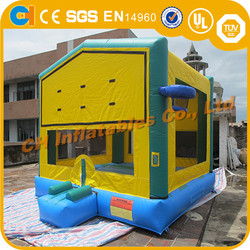 Inflatable bouncy castle with basketball hoop , inflatable moon bounce, inflatable bouncy slide