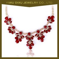 Alloy Rhinestone Gold Necklace Jewelry Factory Direct