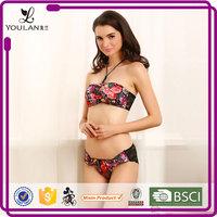 Lace Pattern Beautiful Sexual attraction sexy red women stylish bra and underwear