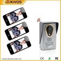 audio door phone doorbell with led 12v dc intercom