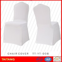 2015 Wholesale durable cheap various color wedding lycra spandex white chair cover