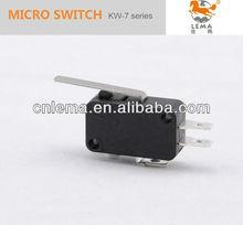 Kw-7-1 3-pin palanca del micro interruptor 10amp no-nc complemento acción de palanca del interruptor micro