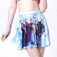 Wholesale frozen women short mini skirt with floral printed for girls and ladies