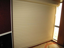 Fire-proofing Security Rolling up roller shutter window champagne color aluminum sliding window