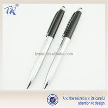Venda quente Sensitive caneta de Metal brilhante de Metal Touch Screen caneta