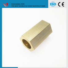 double thread pipe nipple copper solder ring coupling npt/jic/sae/bsp/metric hydraulic hose fittings