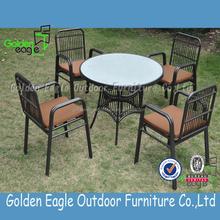 outdoor indoor garden rattan wicker aluminum dining set outdoor aluminum wicker furniture