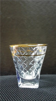 machine made high quality brightly glass tumbler with golden rim & honeycomb for hotel / resterant / bar