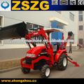 4x4 tractor compacto con pala cargadora y retroexcavadora