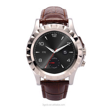 Android smart watch buletooth watch phone top quality leather watch