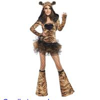 New Arrival 2015 Sexy Halloween Costume Role Play Fever Tiger Party Costume For Women LC8898 Fantasias Femininas Para Festa
