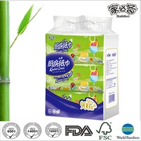 Kitchen towels 100% bamboo pulp paper tissue