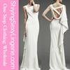 Hot Selling White Asymmetric Design Sexy Mermaid Wedding Party Dress