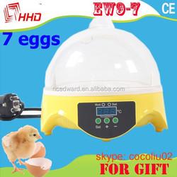 Automatic Mini 7 Eggs Incubator AUTO Turner/Digital 7 Eggs Incubator/Automatic 7 Eggs Incubator