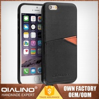 QIALINO Fashionable Customized Top Head Leather Canada Flag For Iphone 6S Case
