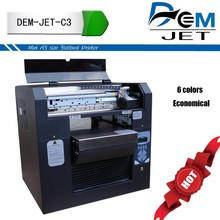 A3 wit colors digital inkjet eco solvent flatbed ll-purpose printer