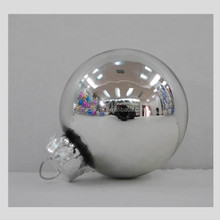 2015 custom glass christmas ball ornament with factory price for Moldova