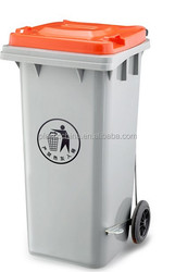 Virgin PE Material and Open Top Structure plastic foot pedal waste bin