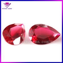 Hot sale fashionable pear shape synthetic ruby on sale