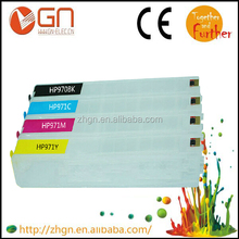 Newest Refill cartridge for hp 970XL 971XL With original chip and ink for hp x576dw empty ink cartridge