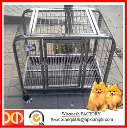 Cheap Small Square Tube Double Dog Cages