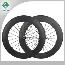 Chinese road bike 28 inch carbon bicycle wheels 88mm powerway carbohn clincher wheel for off road