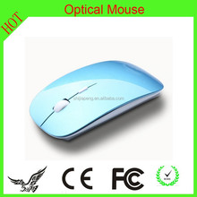 2015 gift promotion 2.4G wireless mini ergonomic mouse with pink color