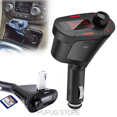 Car MP3 FM Transmittor Charger SD USB Music Player