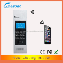 connect with mobile phone intercom door opener wireless gsm outdoor phone