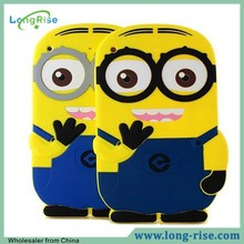 Hot Sale 3D Comic Cute Despicable Me Minion Silicone Case for iPad Air