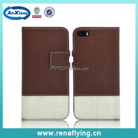 Alibaba supplier flip leather case for apple iphone 5s