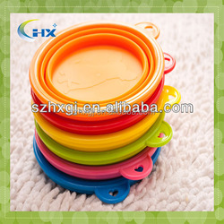 Silicone Collapsible Pet Water Bowl Travel Dog Food Bowl