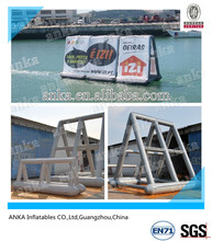 Floating on water air tight inflatable outdoor advertising billboard