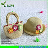 LUDA Summer Crochet Straw Beach Sets Paper Straw Hats and Bags