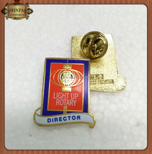 Customized Metal Rotary Pin, Gold Rotary Badge, Enamel Rotary Lapel Pin Badges