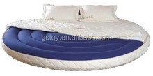 morden inflatable round bed with cover