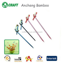 Promotional Lovely Natural Disposable Bamboo Looped Skewers