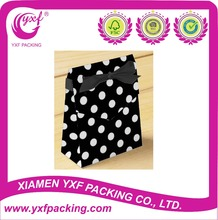 2015 Hot Sale Black and White Polka Dots Favor Boxes