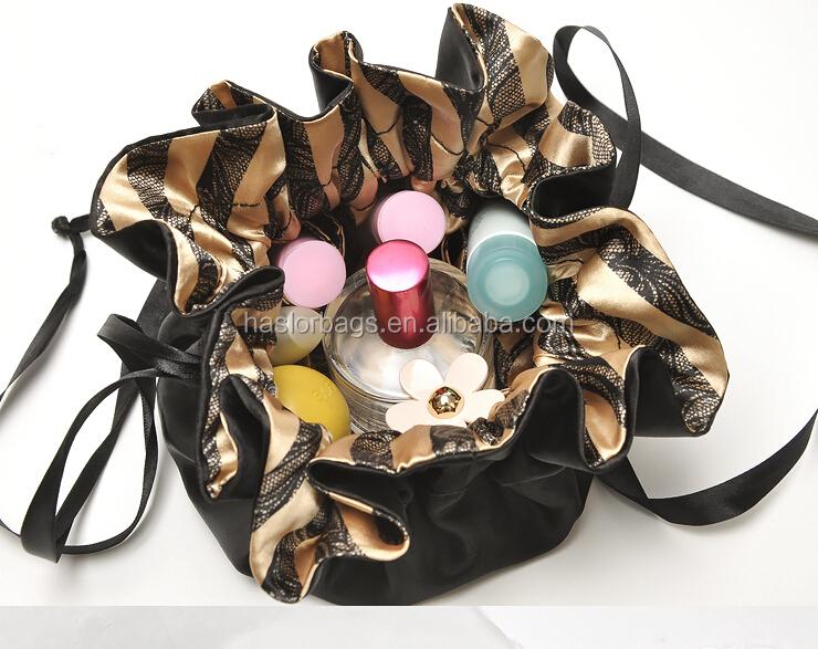 Mode Satin sac cosmétique / sac de lavage pour dame