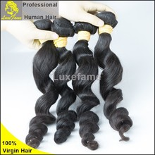 Guangzhou alibaba 10-34inch instock fast shipping virgin indian loose wave hair bundles unprocessed remy indian hair industries