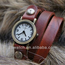 Ancient attractive ladies long leather strap watch 2013 watches fashion cheap lady retro pretty watches hot wholesale in UK/USA