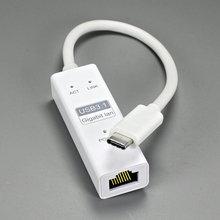 Fast USB 3.1 TYPE C TO rj45 Gigabit Ethernet network port Adapter