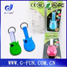 Cute color retractable mini micro 30 PIN adapters 3 in 1 usb charging line cable for mobile phone