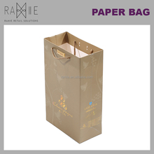 Ramie Hanger, Mannequin, Rack & Paper Products supplier: Customized Logo with Hot Gold Stamping Coated Paper Bag
