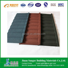 high quality alu-zinc colored Stone coated Roof Tiles/Sand Coated Metal Roofing Tiles